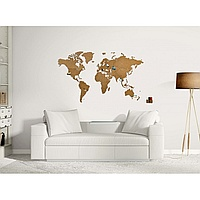 Карта World Map Wall Decoration Brown 130 см х78 см